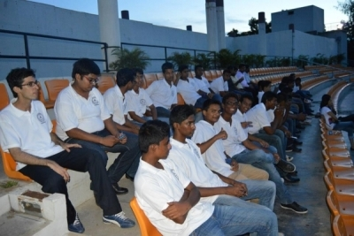 Hotel Management Colleges in Hyderabad students at museum  resting