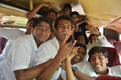 Hotel Management Colleges in Hyderabad students at museum  bus fun