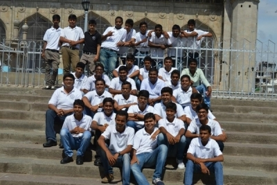 Hotel Management Colleges in Hyderabad students at museum  only boys
