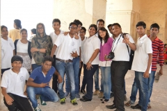 Hotel Management Colleges in Hyderabad students at museum  boys and Girls