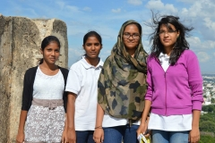 Hotel Management Colleges in Hyderabad students at museum  girls students