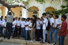 Hotel Management Colleges in Hyderabad students at museum  in a que