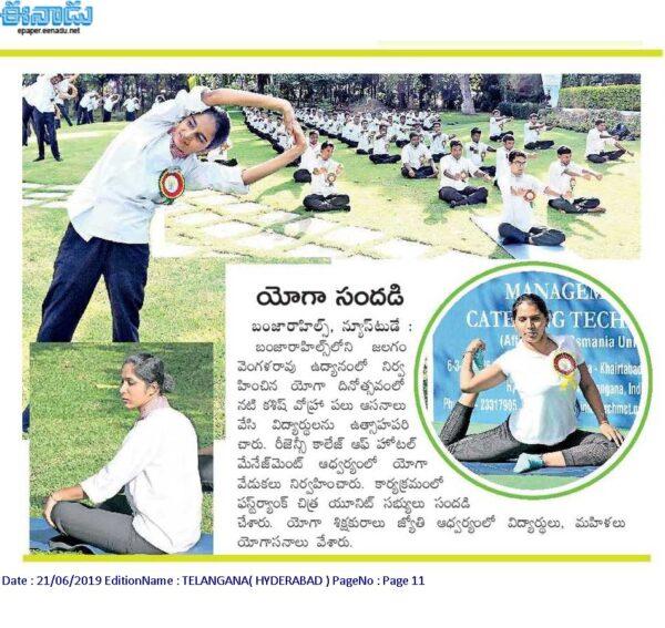 yoga dat at regency college