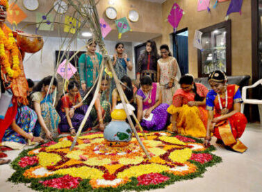 Sankranti festival created by students at Regency College of Hotel Management