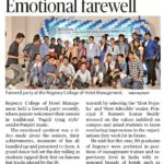 Regency college of Hotel Management Farewell