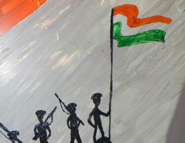 INDEPENDENCE DAY GLASS PAINTING