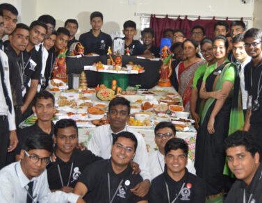 indian snacks display by regency students