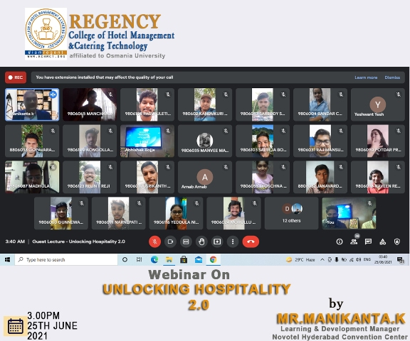 Webinar on Unlocking Hospitality