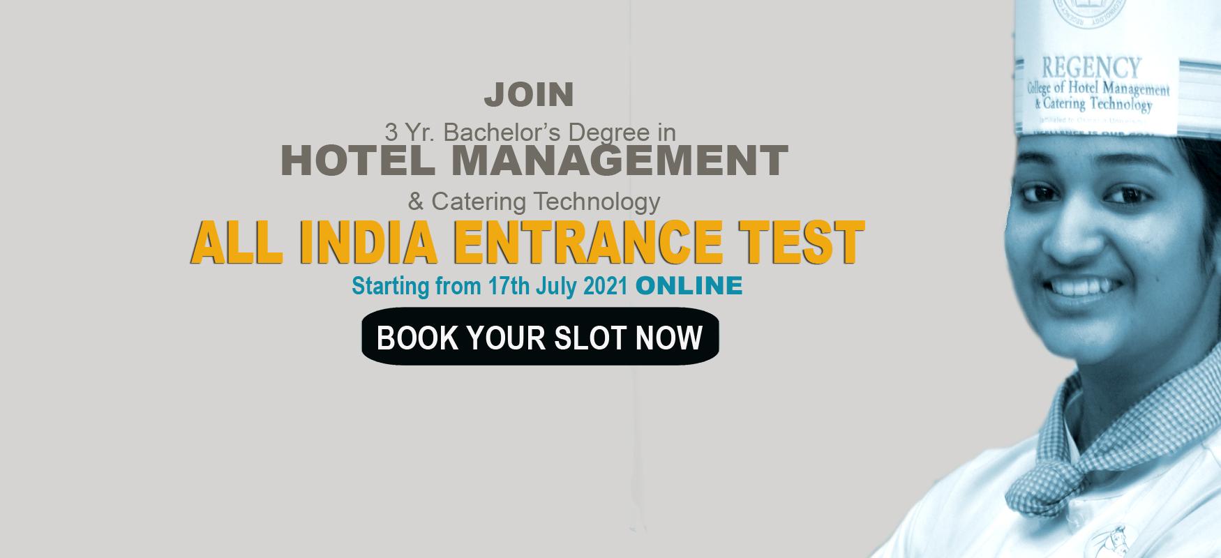 hotel management entrance test